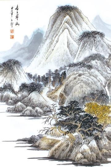 作品名称:《山水之道·刘二郎山水画十二册页》之春日寻幽