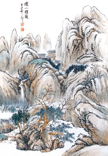作品名称:《山水之道·刘二郎山水画十二册页》之仙山楼观