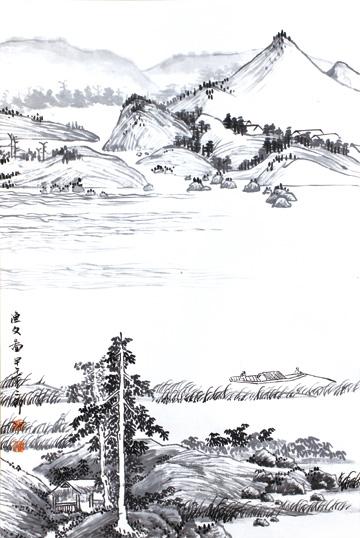 作品名称:《山水之道·刘二郎山水画十二册页》之渔父图