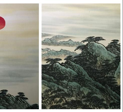 江山如此多娇-傅小红作品局部细节图片欣赏
