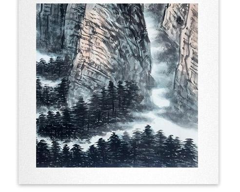 刘二郎作品主席诗意可染丹青之昆仑雪山细节描写