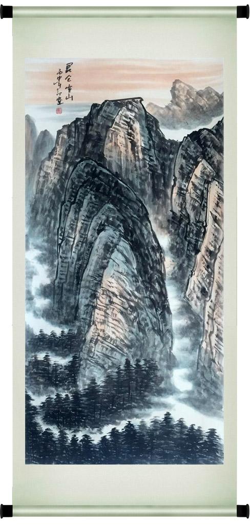 刘二郎作品主席诗意可染丹青之昆仑雪山