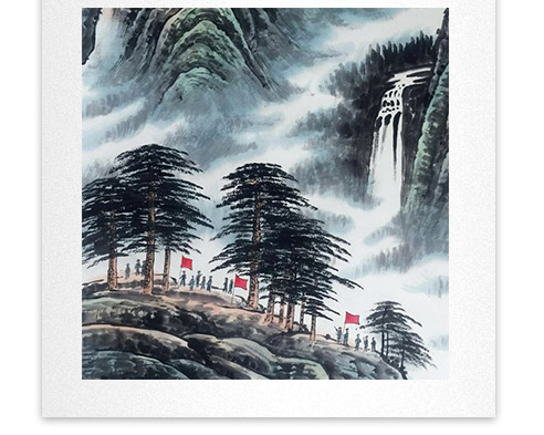 刘二郎作品主席诗意可染丹青之井冈山细节描写