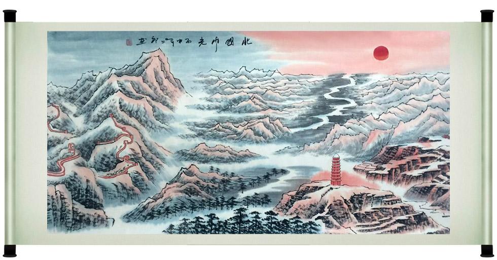 刘二郎作品主席诗意可染丹青之北国风光