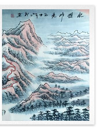 刘二郎作品主席诗意可染丹青之北国风光细节描写