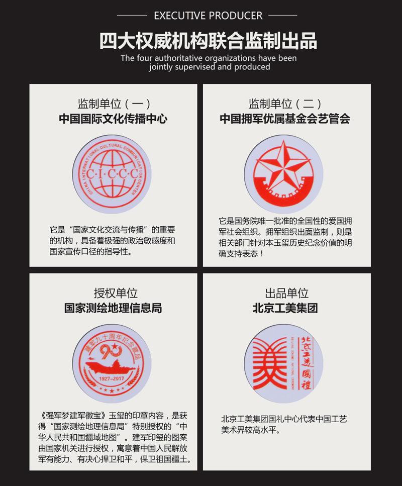 建军徽宝四大权威机构联合监制出品介绍
