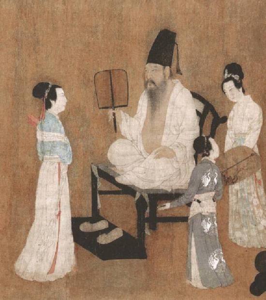 《韩熙载夜宴图》第四段细节描述