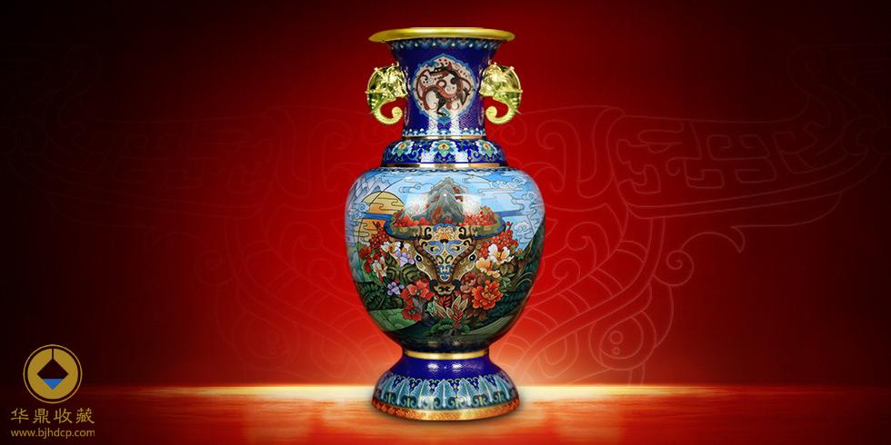 景泰蓝中国牛瓶