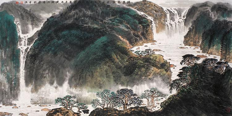 许钦松国画作品《林泉高致》