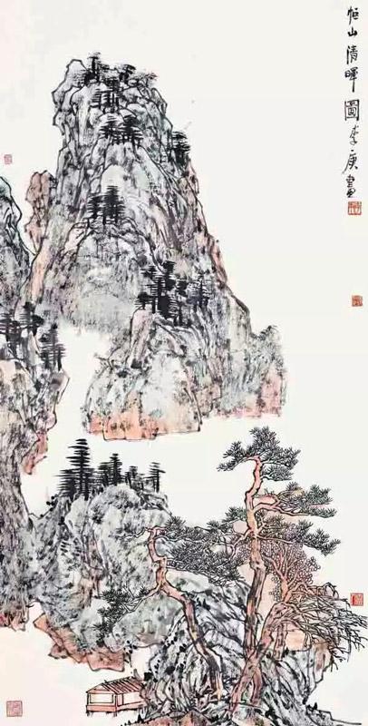 李庚恒山清晖图山水画作品