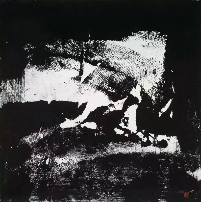 李庚马勒交响曲系列之二水墨书画作品