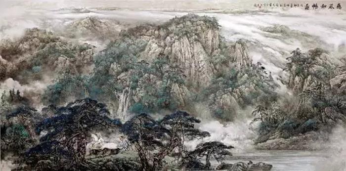 画家师恩钊山水画作品惠风和畅图