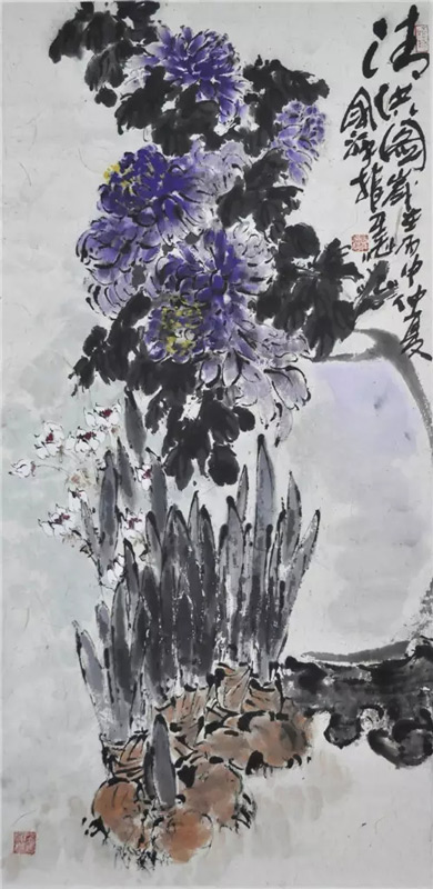 画家张国祥国画作品清供图