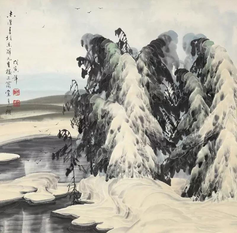 画家于志学山水画作品冰雪世界