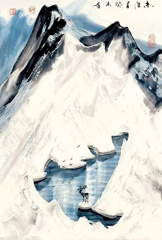 画家于志学山水画作品雪溪情