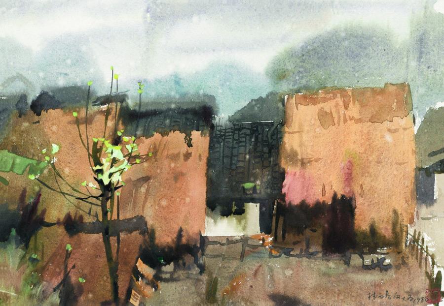 画家刘大为国画作品春雨