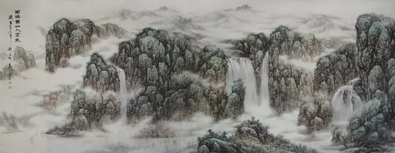 画家赵金鸰山水画作品雨后青山入画来