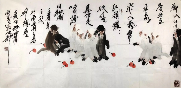 画家徐培晨猴作品