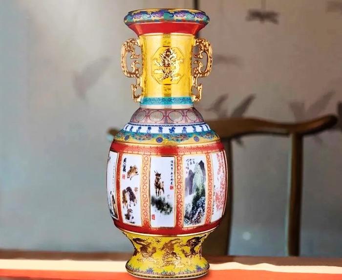 百年国韵十二宗师大瓶正面